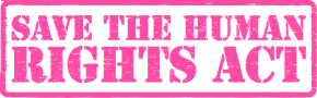 Logo: Do the Human Right Thing - Save the Human Rights Act